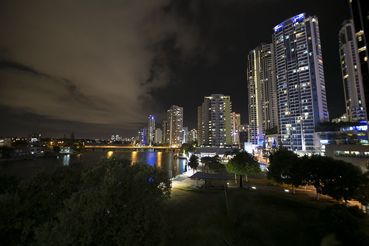 City Skies at Night Surfers Paradise Queensland