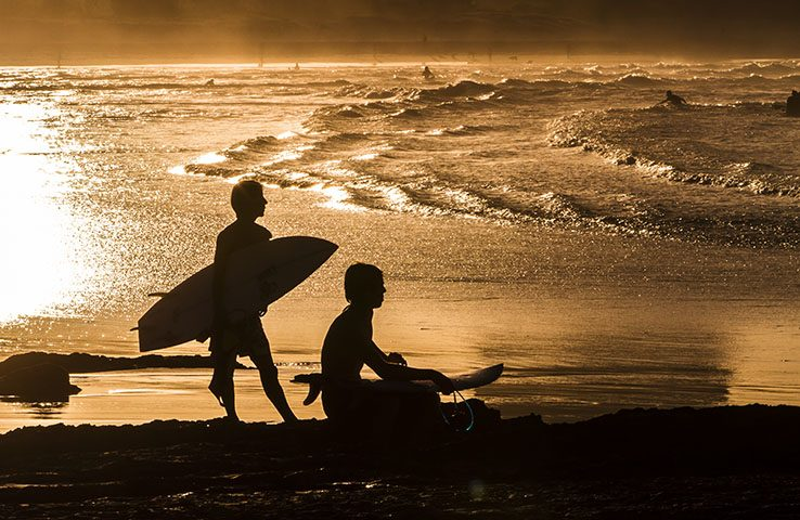Late Afternoon Surf Currumbin Alley Queensland