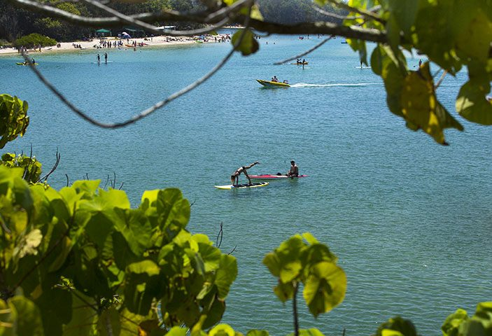 Paddle Board Yoga Currumbin Queensland