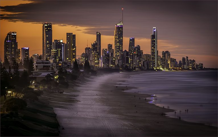 Surfers Paradise Lights North Burleigh Queensland