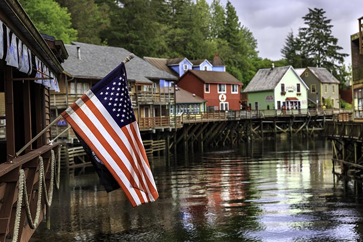 Creek Street Ketchikan Alaska USA